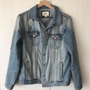 Forever 21 Distressed Light Denim Jacket